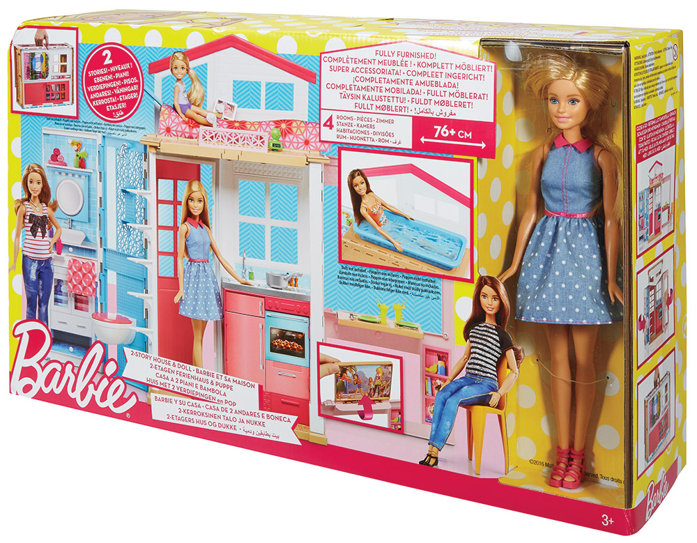 Barbie Casa Componibile + Barbie