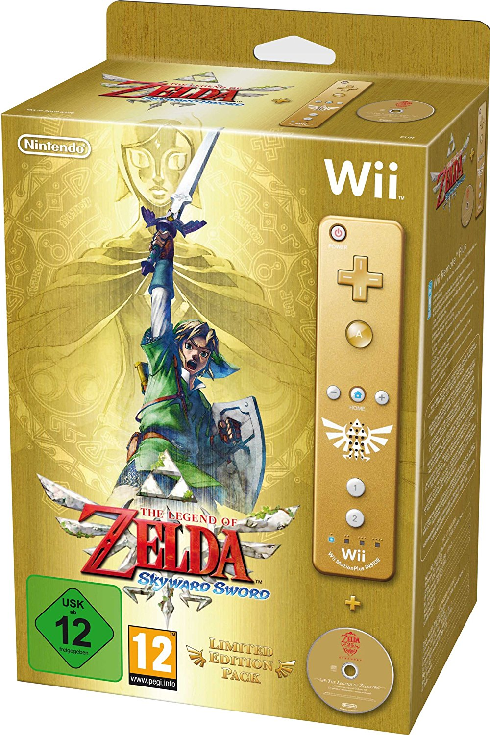 Wii Zelda Skyward Sword Limited edition telecomando oro